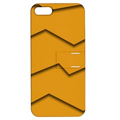 Orange Shades Wave Chevron Line Apple Iphone 5 Hardshell Case With Stand by Mariart