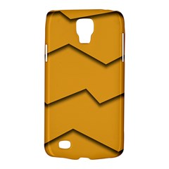 Orange Shades Wave Chevron Line Galaxy S4 Active by Mariart