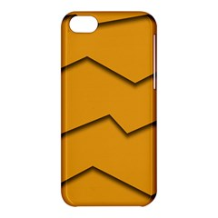 Orange Shades Wave Chevron Line Apple Iphone 5c Hardshell Case by Mariart