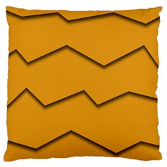 Orange Shades Wave Chevron Line Standard Flano Cushion Case (one Side) by Mariart