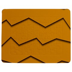 Orange Shades Wave Chevron Line Jigsaw Puzzle Photo Stand (rectangular) by Mariart