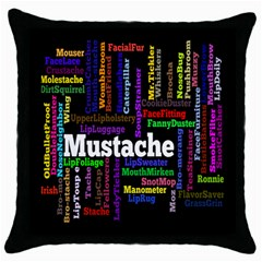 Mustache Throw Pillow Case (black) by Mariart