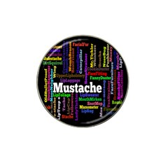 Mustache Hat Clip Ball Marker (4 Pack) by Mariart