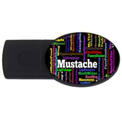 Mustache Usb Flash Drive Oval (4 Gb) by Mariart