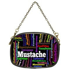 Mustache Chain Purses (one Side)  by Mariart