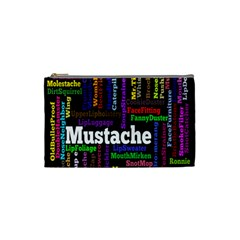 Mustache Cosmetic Bag (small)  by Mariart