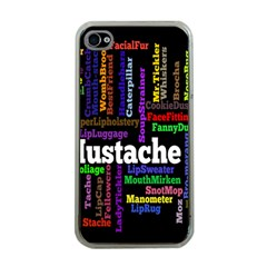 Mustache Apple Iphone 4 Case (clear) by Mariart