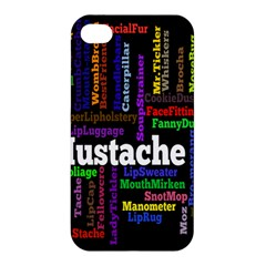 Mustache Apple Iphone 4/4s Hardshell Case by Mariart