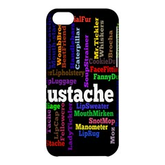 Mustache Apple Iphone 5c Hardshell Case by Mariart