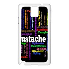 Mustache Samsung Galaxy Note 3 N9005 Case (white) by Mariart