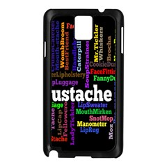 Mustache Samsung Galaxy Note 3 N9005 Case (black) by Mariart