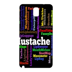 Mustache Samsung Galaxy Note 3 N9005 Hardshell Back Case by Mariart
