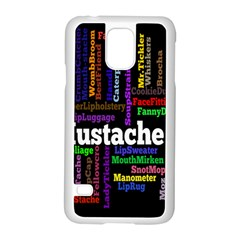 Mustache Samsung Galaxy S5 Case (white) by Mariart