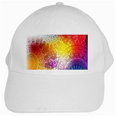 Multi Colour Alpha White Cap by Mariart
