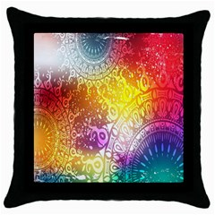 Multi Colour Alpha Throw Pillow Case (black) by Mariart