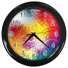 Multi Colour Alpha Wall Clocks (black) by Mariart
