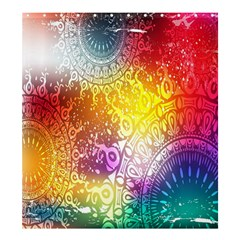Multi Colour Alpha Shower Curtain 66  X 72  (large)  by Mariart