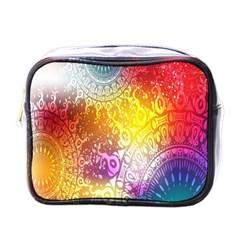Multi Colour Alpha Mini Toiletries Bags by Mariart