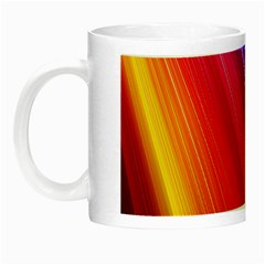 Multicolor Light Beam Line Rainbow Red Blue Orange Gold Purple Pink Night Luminous Mugs by Mariart