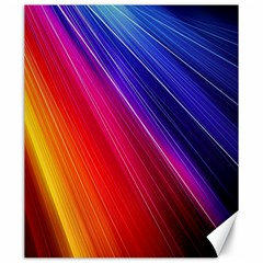 Multicolor Light Beam Line Rainbow Red Blue Orange Gold Purple Pink Canvas 20  X 24   by Mariart
