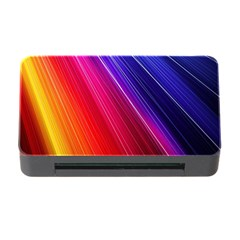 Multicolor Light Beam Line Rainbow Red Blue Orange Gold Purple Pink Memory Card Reader With Cf by Mariart