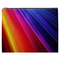 Multicolor Light Beam Line Rainbow Red Blue Orange Gold Purple Pink Cosmetic Bag (xxxl)  by Mariart