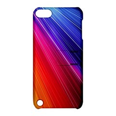 Multicolor Light Beam Line Rainbow Red Blue Orange Gold Purple Pink Apple Ipod Touch 5 Hardshell Case With Stand by Mariart