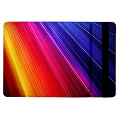 Multicolor Light Beam Line Rainbow Red Blue Orange Gold Purple Pink iPad Air Flip by Mariart