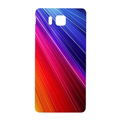 Multicolor Light Beam Line Rainbow Red Blue Orange Gold Purple Pink Samsung Galaxy Alpha Hardshell Back Case by Mariart