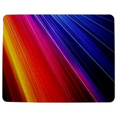 Multicolor Light Beam Line Rainbow Red Blue Orange Gold Purple Pink Jigsaw Puzzle Photo Stand (rectangular) by Mariart