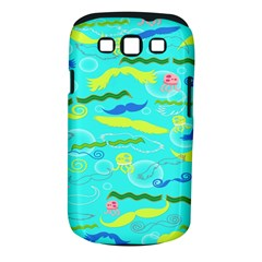 Mustache Jellyfish Blue Water Sea Beack Swim Blue Samsung Galaxy S Iii Classic Hardshell Case (pc+silicone) by Mariart