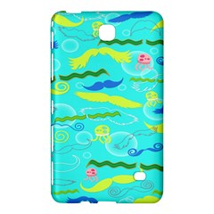 Mustache Jellyfish Blue Water Sea Beack Swim Blue Samsung Galaxy Tab 4 (8 ) Hardshell Case  by Mariart