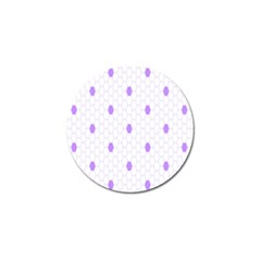 Purple White Hexagon Dots Golf Ball Marker (4 Pack) by Mariart