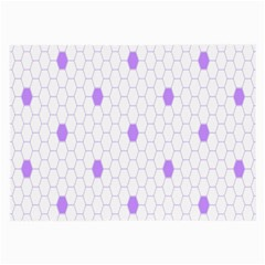 Purple White Hexagon Dots Large Glasses Cloth (2 Side) by Mariart