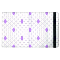 Purple White Hexagon Dots Apple Ipad 2 Flip Case by Mariart