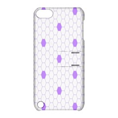 Purple White Hexagon Dots Apple Ipod Touch 5 Hardshell Case With Stand by Mariart