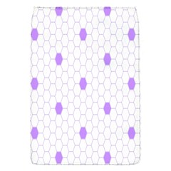 Purple White Hexagon Dots Flap Covers (s)  by Mariart