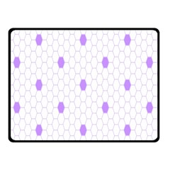 Purple White Hexagon Dots Double Sided Fleece Blanket (small)  by Mariart