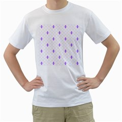 Purple White Hexagon Dots Men s T Shirt (white)  by Mariart