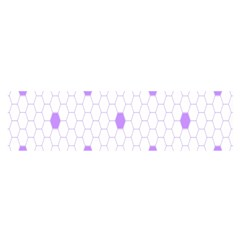 Purple White Hexagon Dots Satin Scarf (oblong) by Mariart
