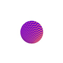 Original Resolution Wave Waves Chevron Pink Purple 1  Mini Magnets by Mariart