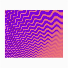Original Resolution Wave Waves Chevron Pink Purple Small Glasses Cloth by Mariart