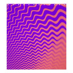 Original Resolution Wave Waves Chevron Pink Purple Shower Curtain 66  X 72  (large)  by Mariart