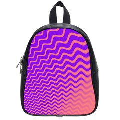 Original Resolution Wave Waves Chevron Pink Purple School Bags (small)  by Mariart