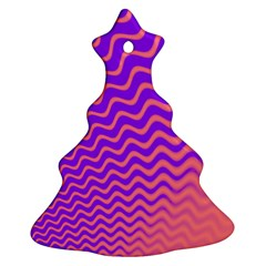 Original Resolution Wave Waves Chevron Pink Purple Christmas Tree Ornament (two Sides) by Mariart