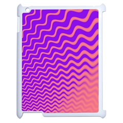 Original Resolution Wave Waves Chevron Pink Purple Apple Ipad 2 Case (white) by Mariart