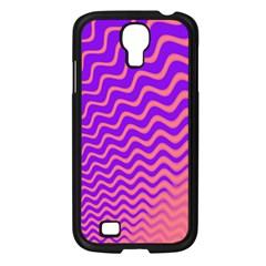 Original Resolution Wave Waves Chevron Pink Purple Samsung Galaxy S4 I9500/ I9505 Case (black) by Mariart