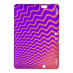 Original Resolution Wave Waves Chevron Pink Purple Kindle Fire Hdx 8 9  Hardshell Case by Mariart