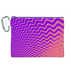 Original Resolution Wave Waves Chevron Pink Purple Canvas Cosmetic Bag (xl) by Mariart
