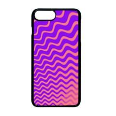 Original Resolution Wave Waves Chevron Pink Purple Apple Iphone 7 Plus Seamless Case (black) by Mariart